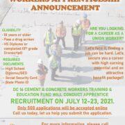 DC 16 Cement & Concrete Workers Apprenticeship Announcement!
